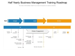 Half Yearly Business Management Training Roadmap Slides