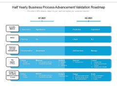 Half Yearly Business Process Advancement Validation Roadmap Infographics