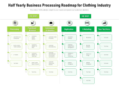 Half Yearly Business Processing Roadmap For Clothing Industry Structure