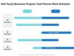 Half Yearly Business Projects Task Planner Work Schedule Topics