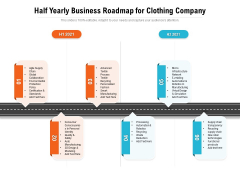 Half Yearly Business Roadmap For Clothing Company Demonstration