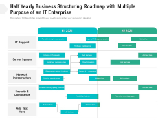 Half Yearly Business Structuring Roadmap With Multiple Purpose Of An It Enterprise Professional