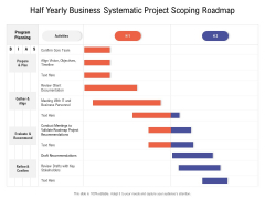 Half Yearly Business Systematic Project Scoping Roadmap Structure