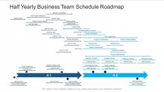 Half Yearly Business Team Schedule Roadmap Sample
