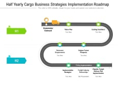 Half Yearly Cargo Business Strategies Implementation Roadmap Diagrams