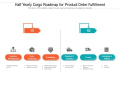 Half Yearly Cargo Roadmap For Product Order Fulfillment Download