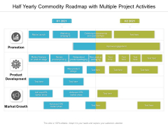 Half Yearly Commodity Roadmap With Multiple Project Activities Elements