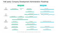 Half Yearly Company Development Administration Roadmap Pictures
