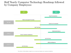 Half Yearly Computer Technology Roadmap Followed By Company Employees Designs