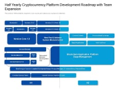 Half Yearly Cryptocurrency Platform Development Roadmap With Team Expansion Mockup