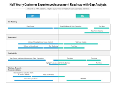 Half Yearly Customer Experience Assessment Roadmap With Gap Analysis Brochure