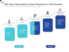 Half Yearly Data Analytics Career Roadmap For Chief Scientist Download
