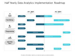 Half Yearly Data Analytics Implementation Roadmap Demonstration