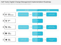 Half Yearly Digital Change Management Implementation Roadmap Themes