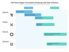 Half Yearly Digital Criminalistics Roadmap With Data Collection Clipart