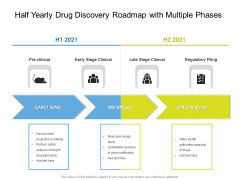 Half Yearly Drug Discovery Roadmap With Multiple Phases Introduction