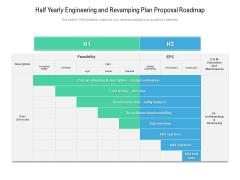 Half Yearly Engineering And Revamping Plan Proposal Roadmap Slides
