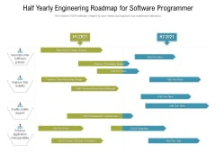 Half Yearly Engineering Roadmap For Software Programmer Icons