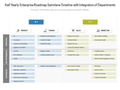 Half Yearly Enterprise Roadmap Swimlane Timeline With Integration Of Departments Sample