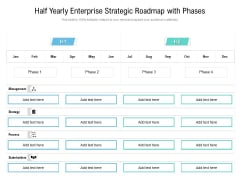 Half Yearly Enterprise Strategic Roadmap With Phases Elements