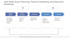 Half Yearly Event Planning Tactical Marketing And Execution Roadmap Clipart