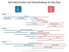 Half Yearly Evolution And Testing Roadmap For Early Drug Guidelines
