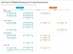Half Yearly Features Roadmap For Product Development Diagrams