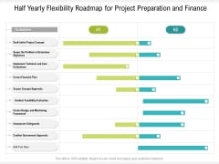Half Yearly Flexibility Roadmap For Project Preparation And Finance Mockup
