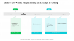 Half Yearly Game Programming And Design Roadmap Formats