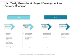 Half Yearly Groundwork Project Development And Delivery Roadmap Portrait