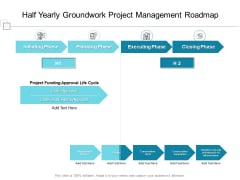 Half Yearly Groundwork Project Management Roadmap Diagrams