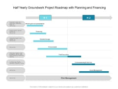 Half Yearly Groundwork Project Roadmap With Planning And Financing Background