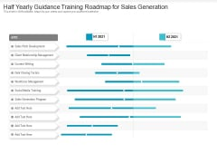 Half Yearly Guidance Training Roadmap For Sales Generation Template
