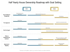 Half Yearly House Ownership Roadmap With Goal Setting Topics
