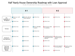 Half Yearly House Ownership Roadmap With Loan Approval Themes