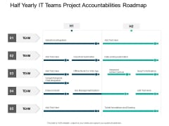 Half Yearly IT Teams Project Accountabilities Roadmap Pictures