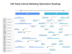 Half Yearly Internet Marketing Optimization Roadmap Infographics