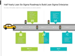 Half Yearly Lean Six Sigma Roadmap To Build Lean Sigma Enterprise Ideas