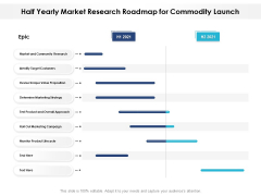 Half Yearly Market Research Roadmap For Commodity Launch Slides