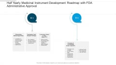 Half Yearly Medicinal Instrument Development Roadmap With FDA Administrative Approval Mockup