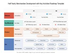 Half Yearly Merchandise Development With Key Activities Roadmap Template Download