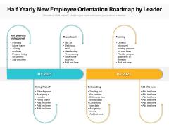 Half Yearly New Employee Orientation Roadmap By Leader Brochure