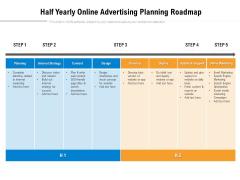 Half Yearly Online Advertising Planning Roadmap Sample