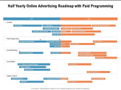 Half Yearly Online Advertising Roadmap With Paid Programming Slides