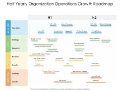 Half Yearly Organization Operations Growth Roadmap Download