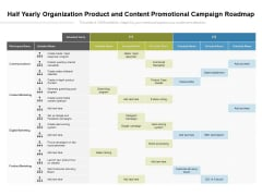 Half Yearly Organization Product And Content Promotional Campaign Roadmap Template