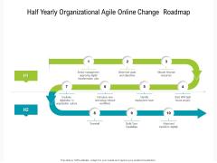 Half Yearly Organizational Agile Online Change Roadmap Clipart