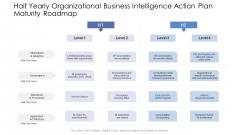 Half Yearly Organizational Business Intelligence Action Plan Maturity Roadmap Professional