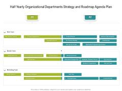 Half Yearly Organizational Departments Strategy And Roadmap Agenda Plan Portrait