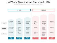 Half Yearly Organizational Roadmap For IAM Designs